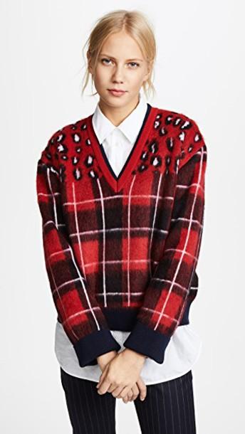 Hilfiger Collection sweater v neck tartan