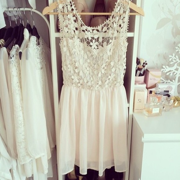 dress spring flowy white flower flower lace tumblr dress white dress letthebirdssing tumblr
