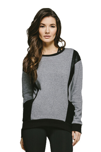 shirt grey michi sweatshirt sweater bikiniluxe