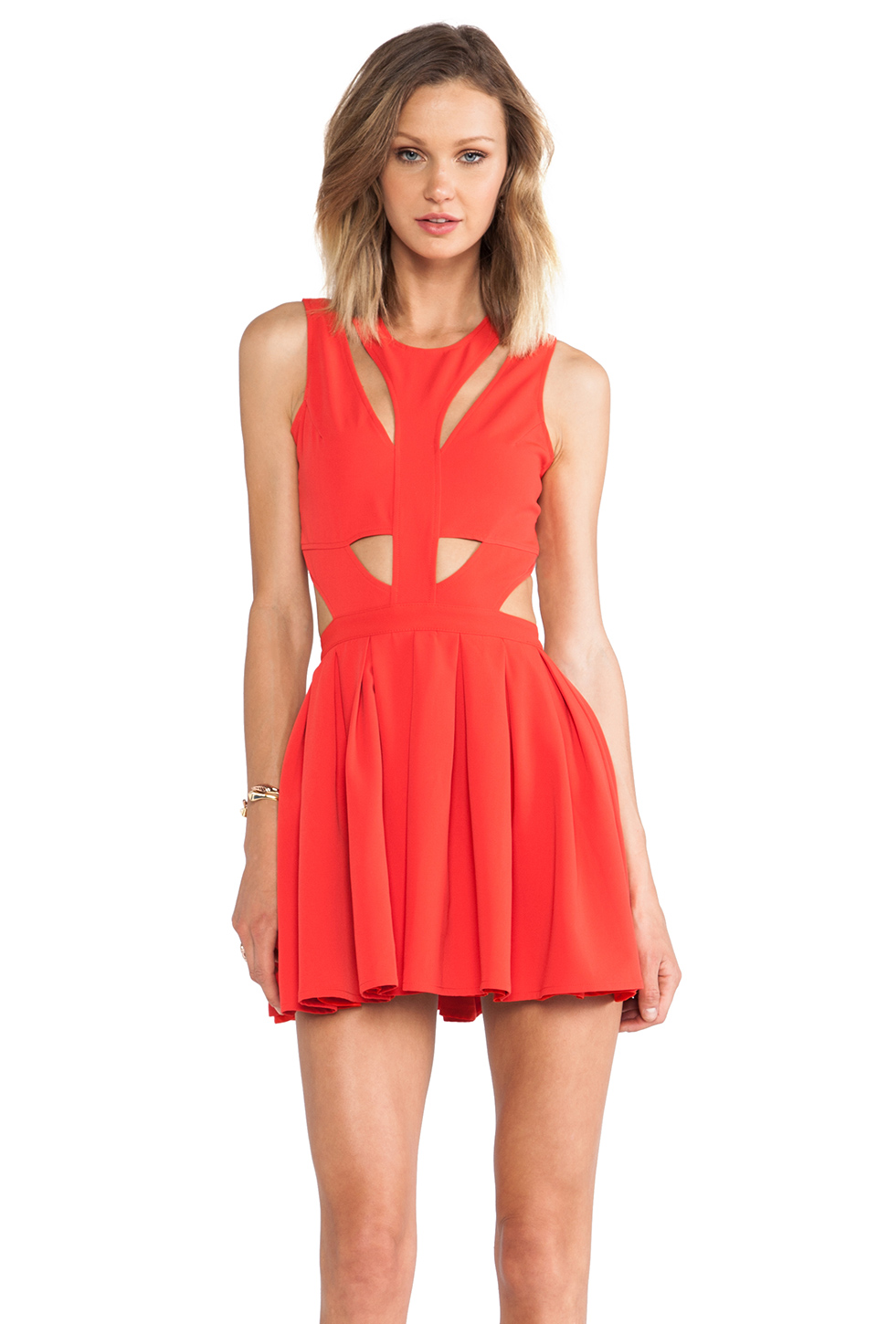 Lovers   Friends Cutting Corners Dress in Poppy from REVOLVEclothing.com