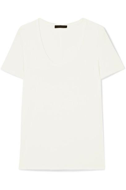 The Row t-shirt shirt t-shirt white off-white top