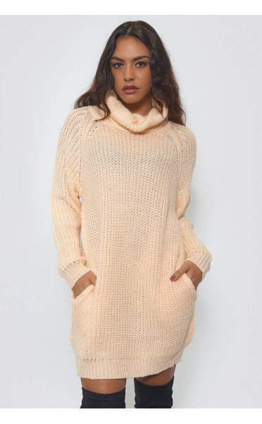 Oversized Peach Pocket Jumper - from The Fashion Bible UK