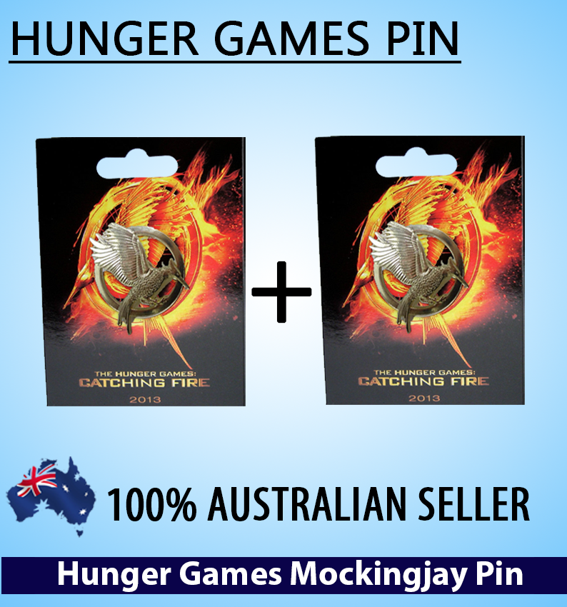 The hunger games 2 catching fire mockingjay pin gold broach x2 value pack