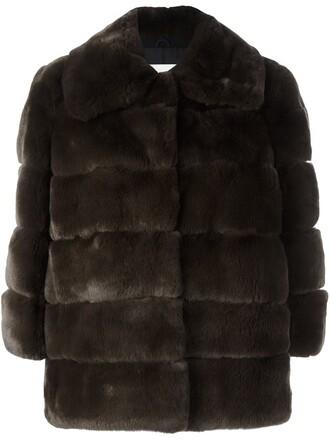 jacket fur jacket fur brown