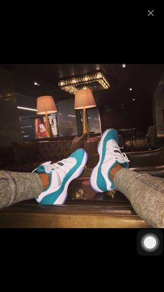 shoes jordans retro bred 11s blue white air jordan air jordan 11
