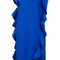 Msgm - ruffle sleeveless dress - women - polyester/spandex/elastane/viscose - 42, blue, polyester/spandex/elastane/viscose