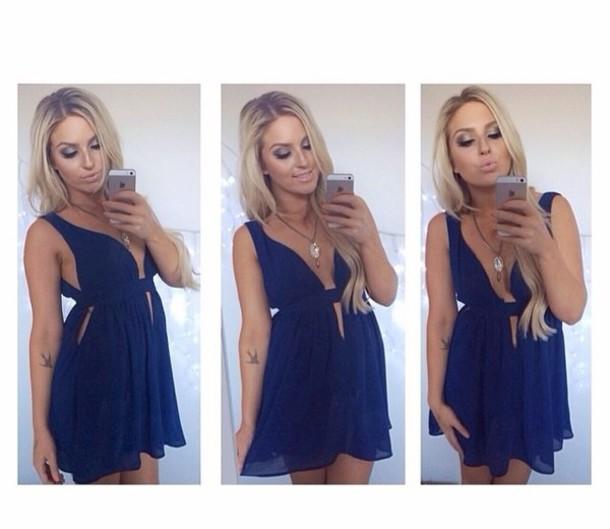 dress blue cami dress cami dress romper blue playsuit blue royal blue spring outfits summer outfits summer dress shaaanxo