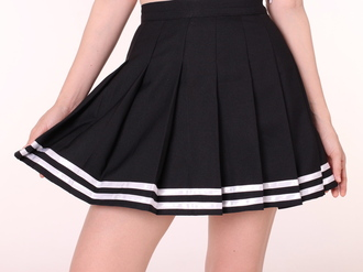 skirt cheer pep skirt striped skirt harajuku harajuku fashion cheerleading