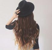 hat,style,minimalist,classy,gorgeous,black hat,grunge,rock,chapeau noir,swag,classe,mignon,accessories
