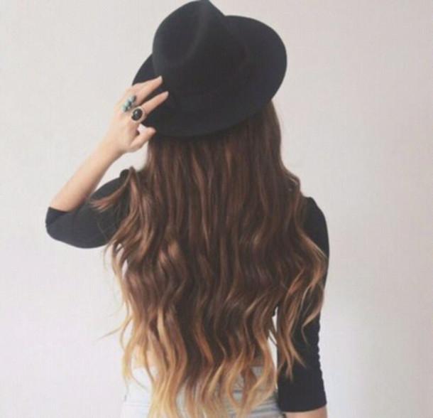 hat style minimalist classy gorgeous black hat grunge rock chapeau noir swag classe mignon accessories