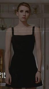 dress,little black dress,emma roberts