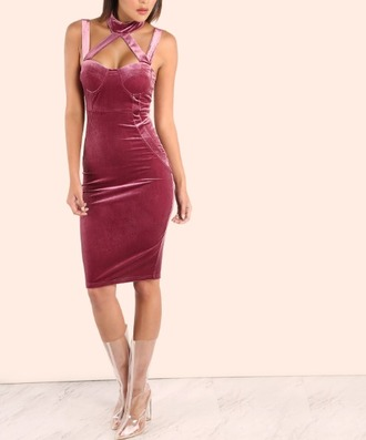 dress girl girly girly wishlist midi midi dress bodycon bodycon dress pink suede suede dress velvet velvet dress