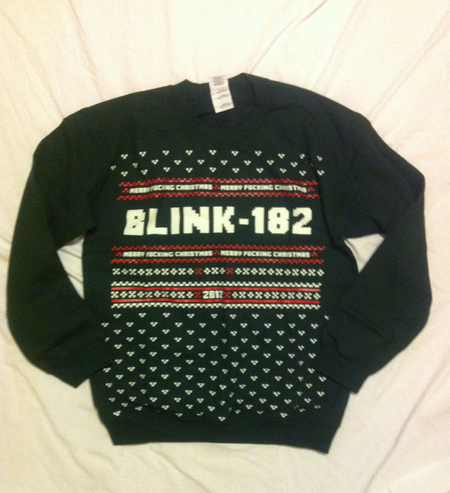 3914f2af7ee Blink 182 Merry F  king Christmas Crew Neck Mens Sweatshirt Sweater Size S  NWT