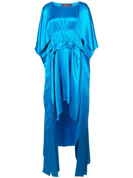 SIES MARJAN dress women blue silk