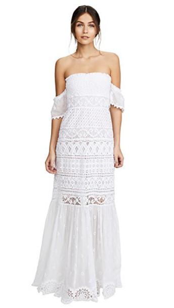Temptation Positano dress strapless dress strapless long white