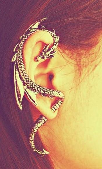 jewels earrings sterling silver ring jewelry dragon earrings beautifull ear silver ear piercings ear ring
