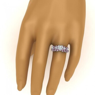 jewels evolees evolees.com heart shaped diamond engagement ring pink sapphire bridal ring set heart diamond wedding ring set