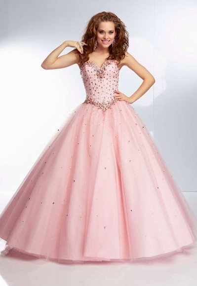 dress prom dress ball gown pink pink dress glitter dress long dress long prom dresses cinderella quinceanera dress paparazzi mori lee glitter dimonds