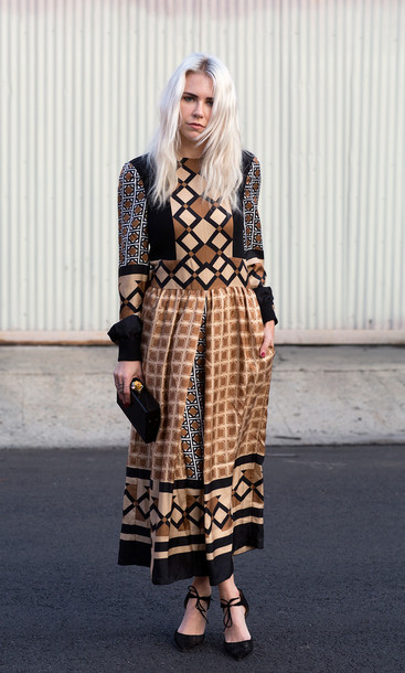 always judging blogger patterned dress Valentino long dress