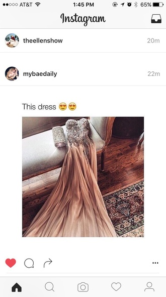 dress prom sparkly dress ombre long prom dress peach peach dress