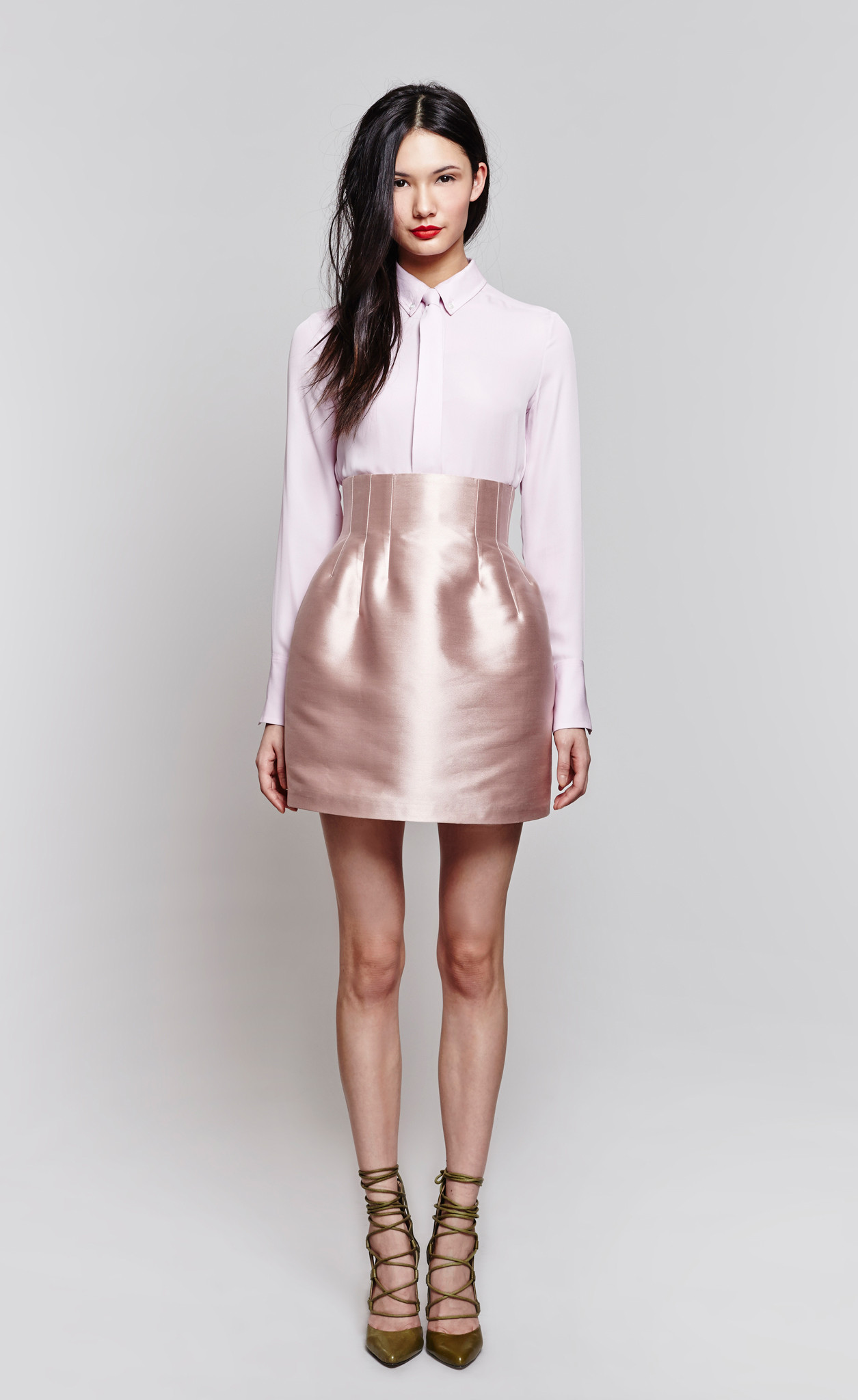 Kitchen Designer App Josephine Luxe Satin High Waisted Skirt