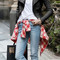 Olivia oversize flap biker jacket