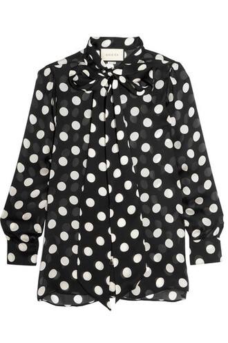 blouse chiffon blouse bow chiffon black silk top