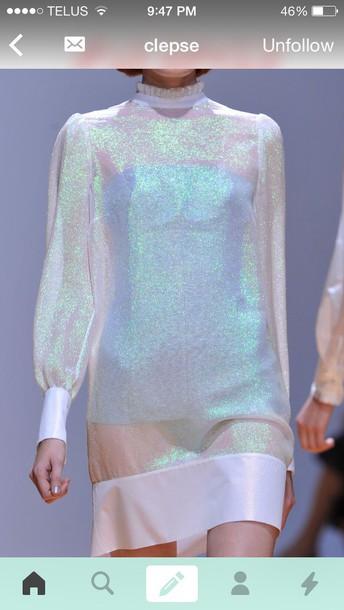 dress holographc dress