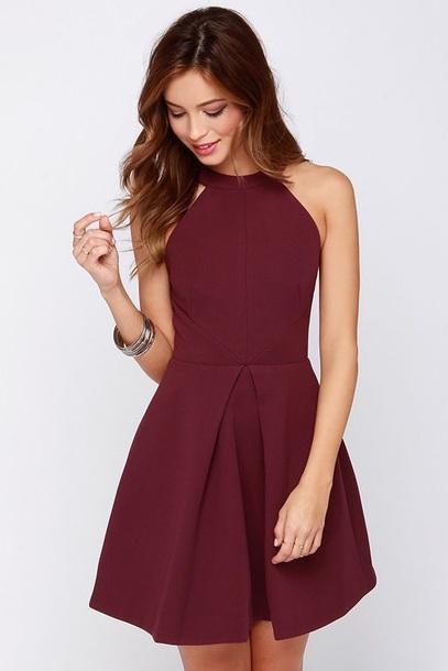 dress burgundy burgundy dress