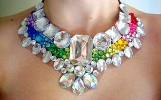 jewels necklace crystal rainbow rainbow crystal crystal quartz rainbow crystal necklace rainbow necklace