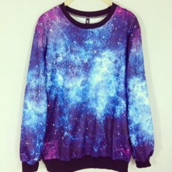 galaxy print hoodie