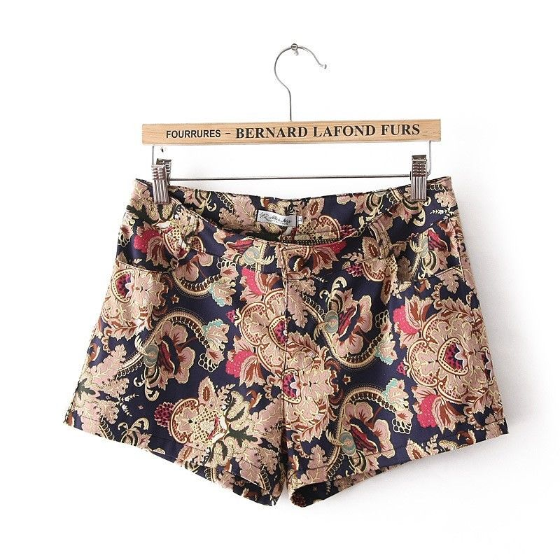 Summer New Fashion Women Vintage Floral Print Slim Tight Shorts Pants Hot Shorts | eBay