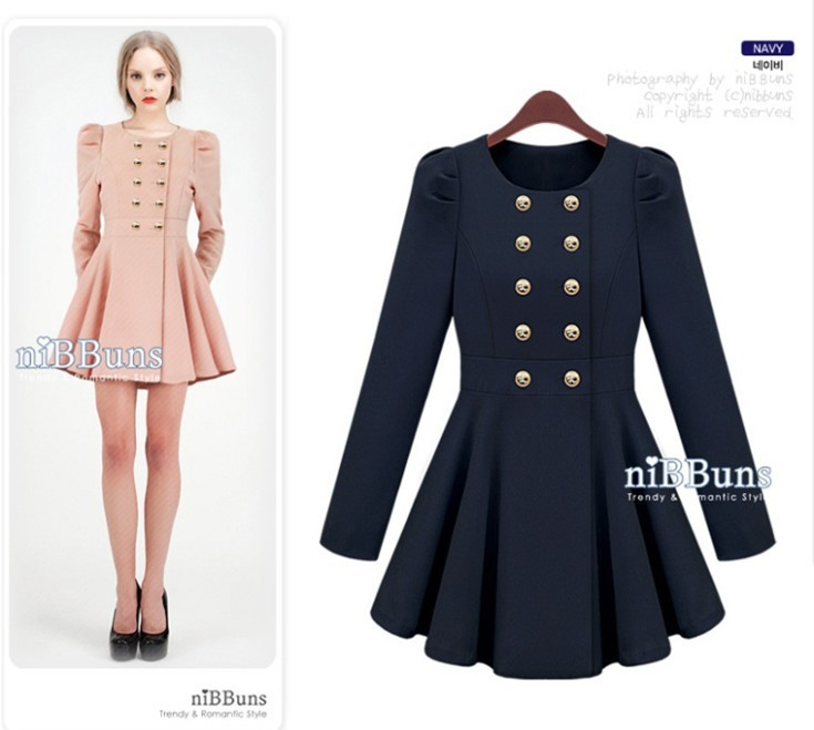 S xl western style round neck long sleeved beam waist woolen winter women jacket,coat,outerwear women pink princess coat