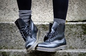 shoes,DrMartens,doc martins,boots,black,vintage,grunge wishlist,cool,combat boots,black combat boots,dope,street,grunge,punk,rock,amazing,urban,fashion,modern,teenagers,socks