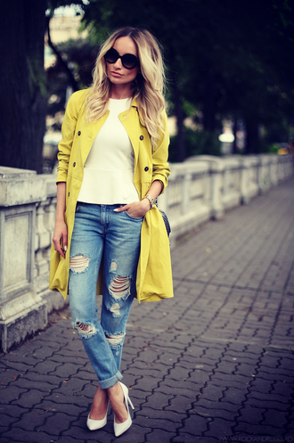 rock and roses jeans top shoes sunglasses jewels bag coat
