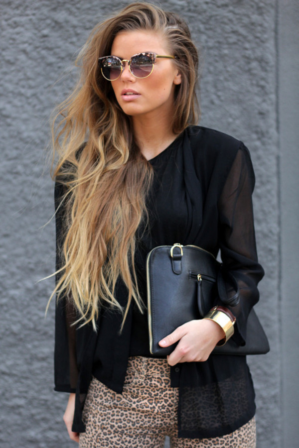 sunglasses pretty model grunge handbag perfect