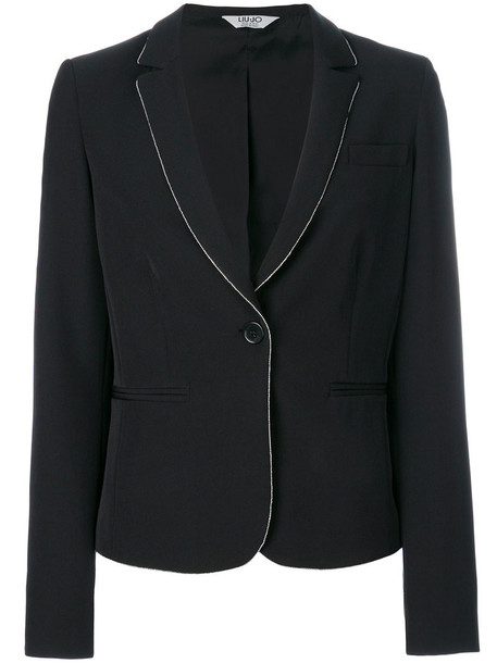 LIU JO blazer women spandex black jacket