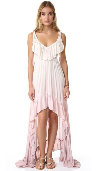 dress ruffle dress high ruffle ombre high low magic