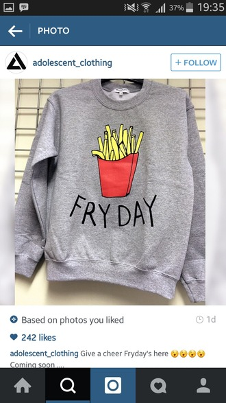 sweater fryday jumper tumblr hipster grunge love grey gray gray sweater grey sweater