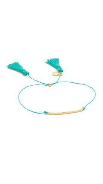 Gorjana Laguna Bar Bracelet - Gold/Teal