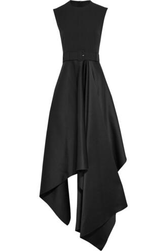gown satin black dress