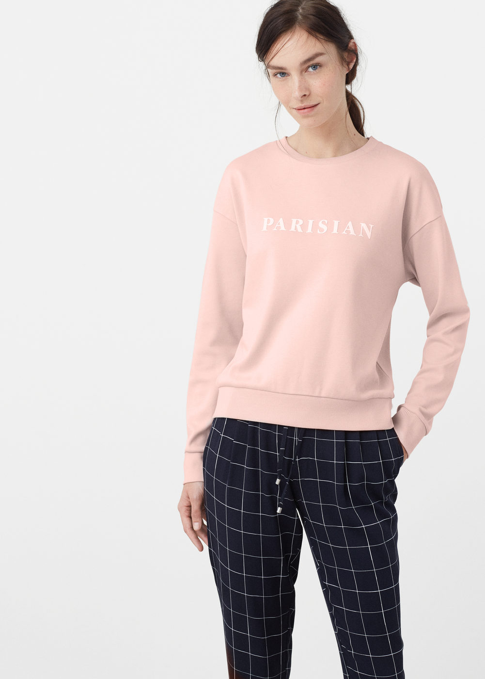 cotton sweatshirt - Sweatshirts for Women | MANGO USA