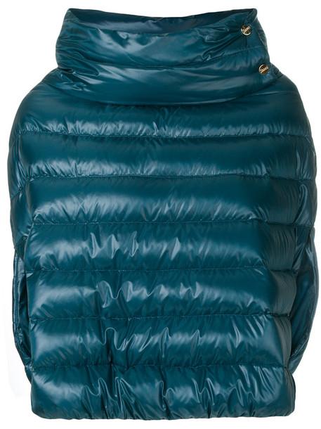 Herno jacket women cotton blue