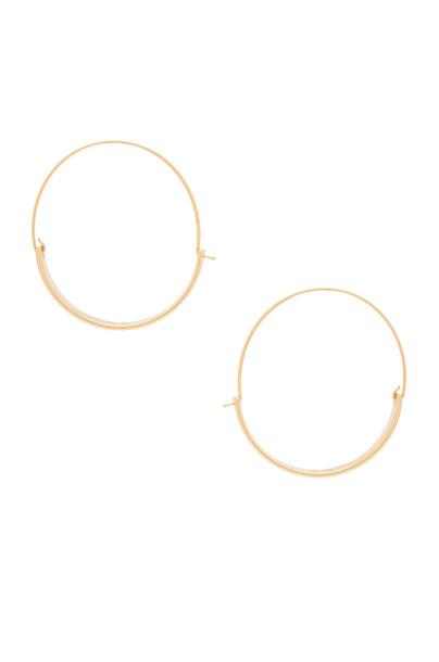 Rebecca Minkoff thick earrings hoop earrings metallic gold jewels