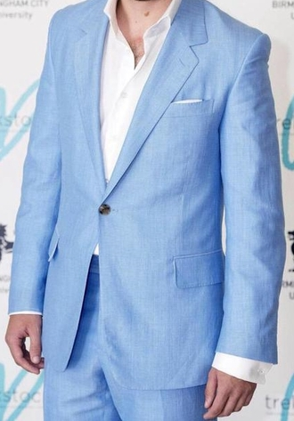 jacket suit light blue baby blue blue liam payne blue suit