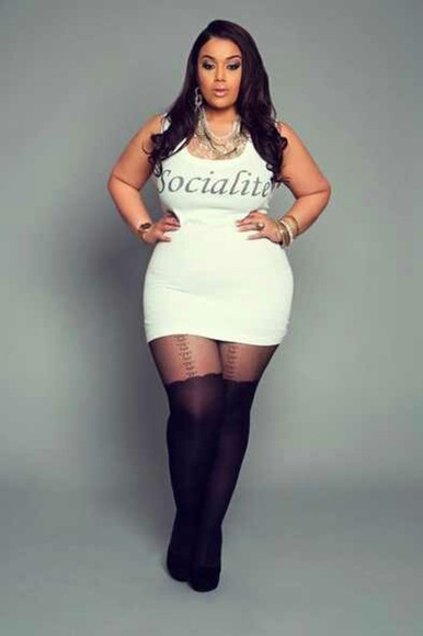 underwear dress plus size white dress sexy stockings