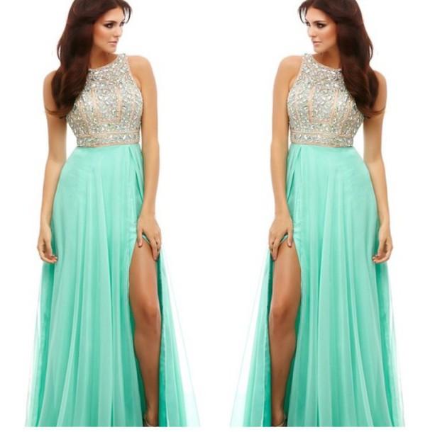dress macduggal mint prom mint dress elegant dress prom dress teal