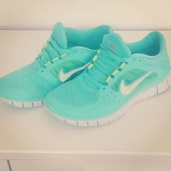 shoes nike mintgreen