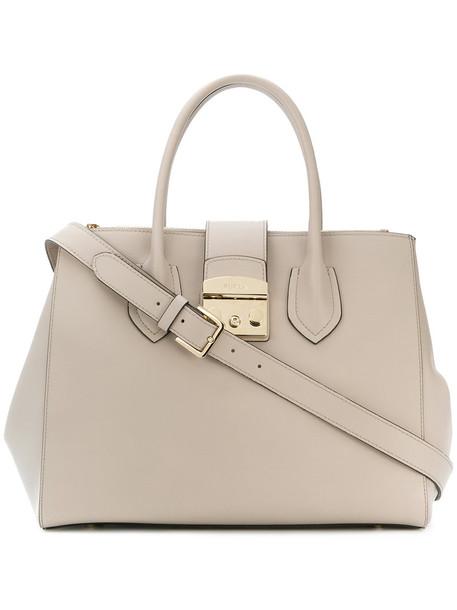 Furla women leather nude bag