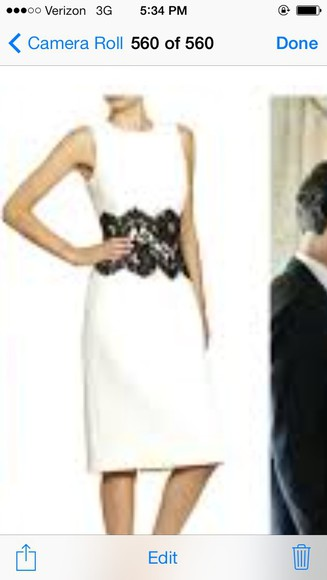 black and white olivia pope scandal kerry washington short dress